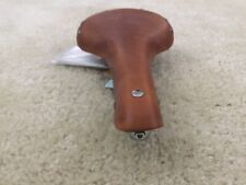 Gyes Ti-06 Bl...100/% Genuine Leather Bicycle Seat//Saddle...560-052!
