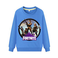 Kids Cartoon Shirt Pullovers Cotton Hoodies Fort Night Boys Girls Gift Age 3-13