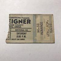 Foreigner Tarrant Cumberland County Memorial Concert Ticket Stub Vtg July 1978