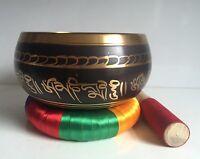 Very Large 7''  Tibetan Singing Bowl & Cushion / YOGA/ Meditation/Gong
