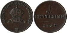 1822 (M) Italy - Lombardy-Venetia 1 Centesimo Coin C#1.2