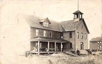 D54/ Tintah Minnesota Mn Real Photo RPPC Postcard c1910 High School