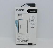 New OEM Incipio Stowaway Advance White/Dark Gray Case For iPhone 6 Plus/6s Plus