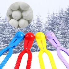 Winter Snowball Snow Clay Ball Maker Outdoor Sport Sand Mold Scoop Clip Kids _GG