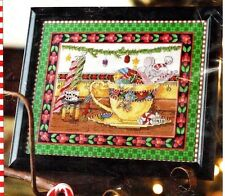Mary Engelbreit Counted Cross Stitch TEACUP MOUSE Kit Christmas holiday ME