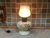 "Vintage 1985 Ceramic Handmade Table Lamp 10"" Tall"
