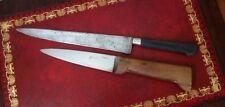 Couteaux de cuisine anciens acier et bois
