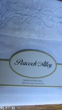 NEW Peacock Alley 100% Cotton Sateen Hand Embroidered 2 Standard Pillowcases