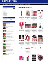 LIPSTICKS UK WEBSITE BUSINESS WITH NEW DOMAIN + 1 YEARS HOSTING - RUN AT HOME