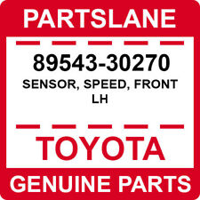 89543-30270 Toyota OEM Genuine SENSOR, SPEED, FRONT LH