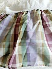 """Vintage Queen Size Bed Skirt Violet Glen Plaid  14""""  Mint Never Used  No Splits"""