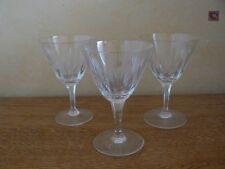 Vintage*-drei Weingläser-1958-dünnes Kristallglas-geschliffen