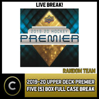 2019-20 UPPER DECK PREMIER HOCKEY 5 BOX (HALF CASE) BREAK #H692 - RANDOM TEAMS