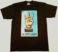 STREETWISE LA COSTA OESTE T-shirt Urban Streetwear Tee Mens L-4XL Black NWT