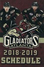 2018-2019 Gwinnett Gladiators Pocket Schedule--Kroger--ECHL