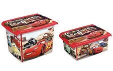 2er Set Fashion Box Disney Cars 20L +10L Aufbewahrungsbox Spielzeugkiste