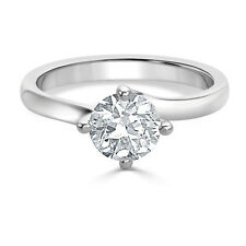 RRP £15000 1ct Round  Solitaire Diamond Engagement Ring in Platinum