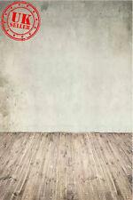 Carta da Parati Sfondo Bianco Grigio Pavimento Vinile Sfondo Foto di scena 5X7FT 150x220CM