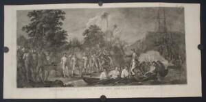 TANNA VANUATU LANDING OD CAPTAIN COOK 1774 COOK/BENARD/HAWKESWORTH ANTIQUE VIEW