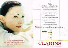 PUBLICITE ADVERTISING 065  1997  CLARINS   cosmétiques maquillage ( 2p)