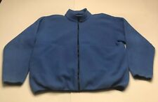 LL Bean Outdoors Mens Fleece Blue Size 2XL Tall Full Zip Pullover Sweater