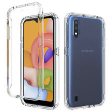 For Samsung Galaxy A11 A01 Hybrid TPU+PC Case Clear Slim Shockproof Phone Cover