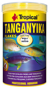 Tropical Tanganyika Flakes Flocken 1000 ml Fischfutter Barsch