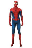 Spider-man Peter Parker Classic suit Jumpsuit Costume Cosplay Halloween