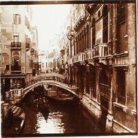 ITALIE Venise Rio di Palazzo della Canonica, Photo Stereo Plaque Verre ca 1910