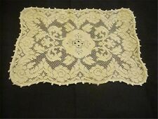 Antique Woven Lace Centerpiece Runner Doily  Hearts VALENTINE'S DAY Romance