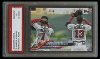RONALD ACUNA JR./OZZIE ALBIES 2018 TOPPS UPDATE 1ST GRADED 10 ROOKIE CARD BRAVES
