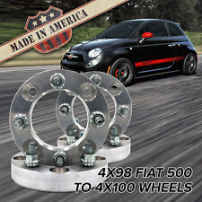 "x4 USA | 4x98 to 4x100 (Fits 4 Lug Fiat 500) | Wheel Adapters / 1.25"" Spacers"