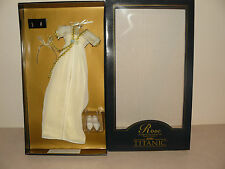 Franklin Mint Titanic Yellow And Cream Lace Ensemble For Female Vinyl Rose Doll