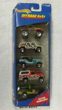 Hot Wheels 1997 OFF ROAD 4X4s 5 Car Gift Pack gulch hummer jeep bronco pick-up