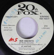 Pop Promo 45 Al Martino - Our Concerto / In My Heart Of Hearts On 20Th Fox