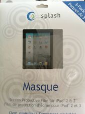 MASQUE FILM FOR IPAD 2 & 3 CLEAR 3PACK (TABLET/E-READER ACCESSORIES)