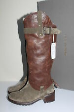 UGG Collection Cavalieri Brown Leather Removable Shaft Tall Boot  Shoe sz 6 / 37