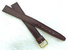 COBRA of Paris,12mm HI END Plum Sleek Leather,60's NOS LADIES WATCH BAND,B12-10
