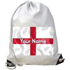 PERSONALISED ST GEORGE'S FLAG GYM / PE / SWIMMING BAG -GREAT KIDS GIFT & NAMED