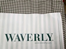 Waverly Country Fair Sage Check Valance Tailored Balloon 79x14 Double Layer NEW