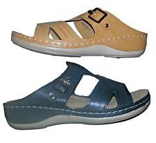 Italina comfort sandals 6259 Camel & Black Color Memory Foam pillowtop Footbed