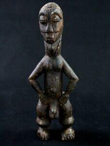 Art Africain Arts Premiers - Ancien Fétiche Bété - Figure d'Ancêtre - 24,5 Cms