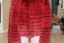 Authentic red fox fur coat Neiman Marcus jacket medium