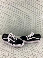 VANS Old Skool Black Canvas/Suede Lace Up Low Top Shoes Mens Size 4.5  Women's 6