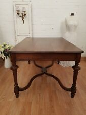 LARGE ANTIQUE FRENCH SOLID OAK TABLE - C1900