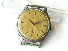 ca.1950 TANIS Men's WRIST WATCH Large Dial, Mechanical w/ 20 Rubis, Swiss Made