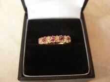 Anniversary Natural Round Fine Gemstone Rings