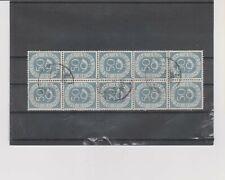 Bund Posthorn Einheiten 134 als 10er-Block gestempelt, 5 waagerechte Paare