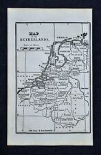 1830 Nathan Hale Map - Netherlands Holland Belgium Luxembourg Amsterdam Brussels