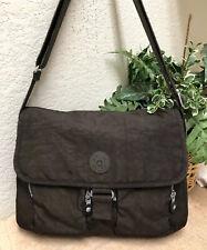 Kipling New Rita Crossbody Flap Medium Messenger Bag Nylon Brown Dark EXC